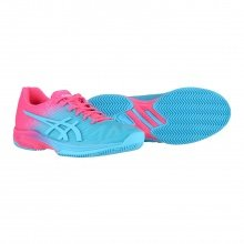 Asics Solution Speed FF Clay Limited Editoion aqua/pink Tennisschuhe Damen (Größ