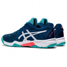 Asics Gel Resolution 8 Allcourt 2020 dunkelblau/türkis Tennisschuhe Kinder