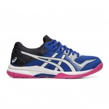 Asics Gel Rocket 9 2019 royalblau/weiss Indoorschuhe Damen