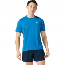 Asics Lauf-Tshirt Run (atmungsaktiv, schnell trocknend) blau Herren