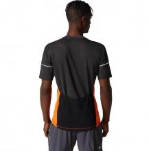 Asics Lauf-Tshirt Trail Fuji Half-Zip orange/schwarz Herren