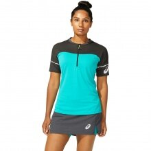 Asics Trailshirt (Tshirt) Fujitrail 1/2 Zip türkis/schwarz Damen