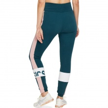 Asics Sweatpant Colorblock petrolblau Damen
