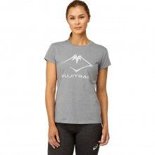 Asics Laufshirt (Tshirt) Fujitrail 2021 grau Damen