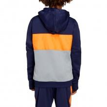 Asics Hoodie FZ Brushed 2020 dunkelblau/orange/grau Jungen