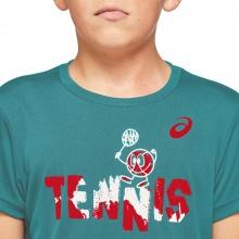 Asics Tennis-Tshirt Tennis Graphic türkis Jungen