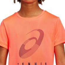 Asics Tennis-Tshirt Practice Spiral neonorange Jungen