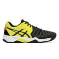 Asics Gel Resolution 7 Clay schwarz/gelb Stabil-Sandplatz-Tennisschuhe Kinder