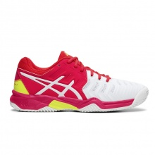 Asics Gel Resolution 7 Clay 2019 weiss/pink Tennisschuhe Kinder