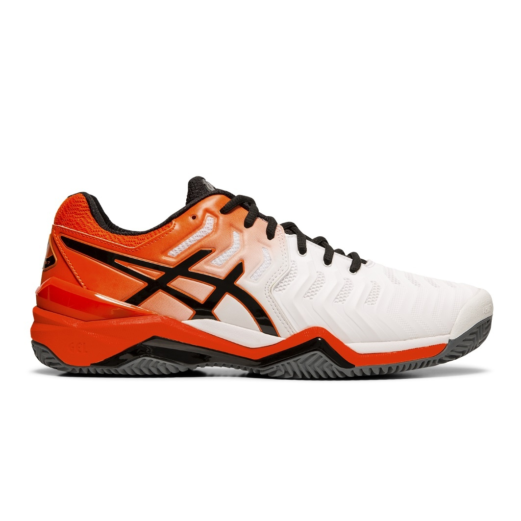 Asics Gel Resolution 7 Clay 2019 weissorange Tennisschuhe