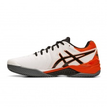 Asics Gel Resolution 7 Clay 2019 weiss/orange Tennisschuhe Herren