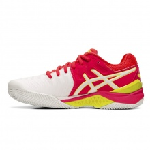 Asics Gel Resolution 7 Clay 2019 weiss/pink Tennisschuhe Damen