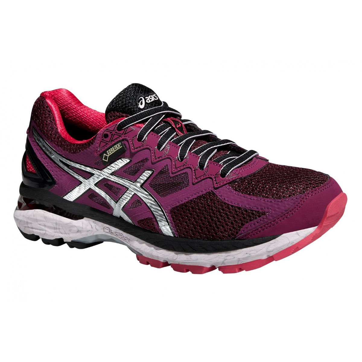 asics gt 2000 4 gtx 2016 plum laufschuhe damen online bestellen. Black Bedroom Furniture Sets. Home Design Ideas