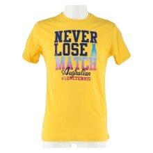 Australian Tennis-Tshirt Never Lose gelb Herren