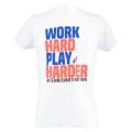 Australian Tshirt Work Hard 2018 weiss Herren
