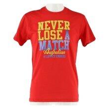 Australian Tshirt Never Lose 2017 rot Herren