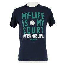 Australian Tshirt My Life dunkelblau Herren