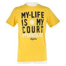 Australian Tshirt My Life gelb Herren