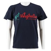 Australian Tshirt Logo 2018 navy/rot Herren