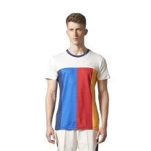 adidas Tshirt NY Colorblock weiss/blau/rot Herren