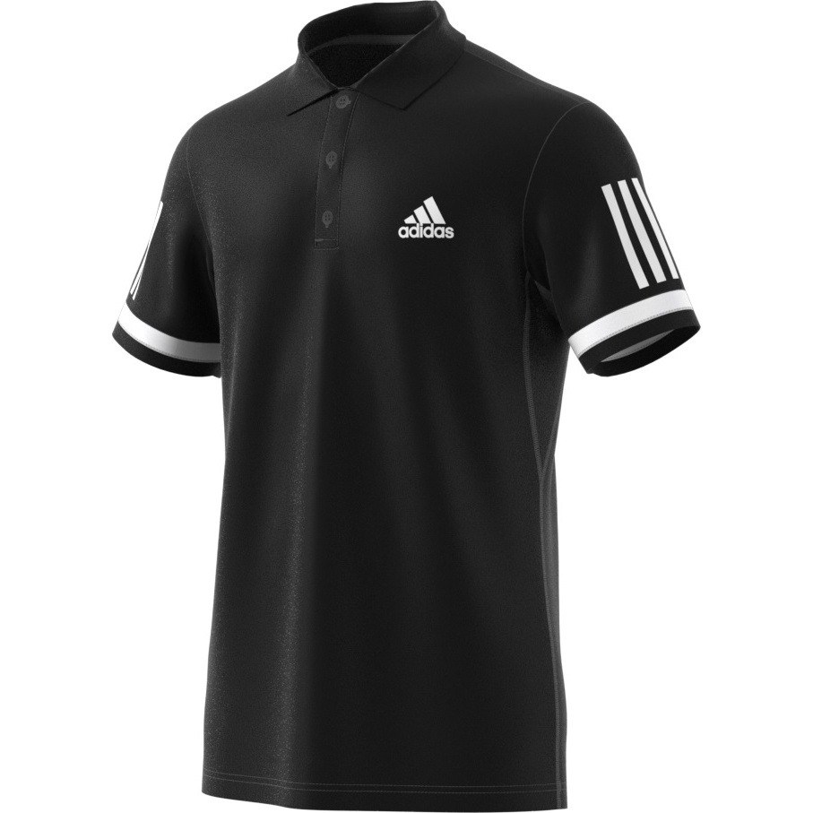 adidas polo club 3 stripes 2018 schwarz herren