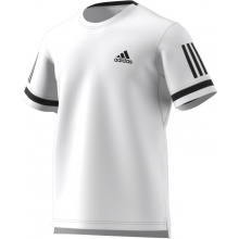 adidas Tshirt Club 3 Stripes 2018 weiss Herren