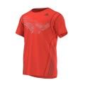 Adidas Tshirt BT Graph Tee rot Herren (Größe S)
