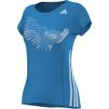 Adidas Shirt BT Graph Tee blau Damen