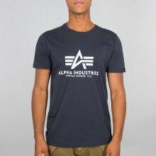 Alpha Industries Tshirt Basic (Baumwolle) navy Herren