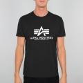 Alpha Industries Tshirt Basic schwarz/weiss Herren
