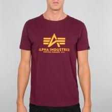 Alpha Industries Tshirt Basic burgundrot Herren