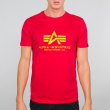 Alpha Industries Tshirt Basic rot/gelb Herren
