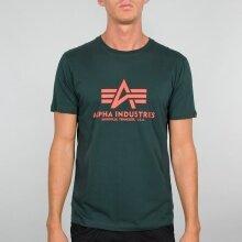Alpha Industries Tshirt Basic (Baumwolle) petrol Herren