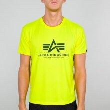 Alpha Industries Tshirt Basic (Baumwolle) neongelb Herren