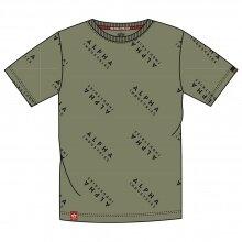 Alpha Industries Tshirt AOP T (Baumwolle) olive Herren
