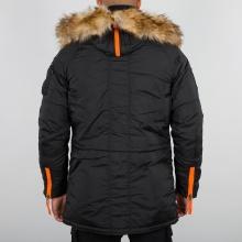 Alpha Industries Winterjacke PPS N3B schwarz/orange Herren