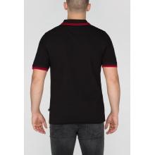 Alpha Industries Polo Twin Stripe II (Baumwolle) schwarz/rot Herren