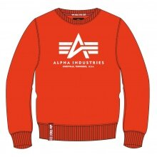 Alpha Industries Pullover Basic (Baumwolle) Sweater atomicrot Herren