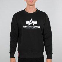 Alpha Industries Pullover Basic (Baumwolle) Sweater schwarz Herren