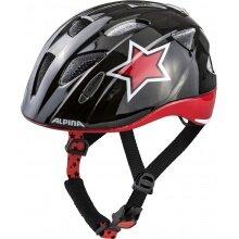 Alpina Fahrradhelm Ximo Flash Stern schwarz/rot/weiss Kinder