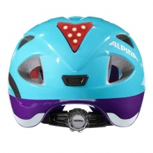 Alpina Fahrradhelm Ximo Flash Winter Eulen hellblau/violett Kinder