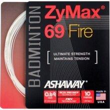 Besaitung mit Ashaway Zymax 69 Fire weiss