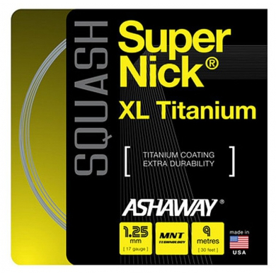 Ashaway Super Nick XL Titanium 1.25 grau Squashsaite