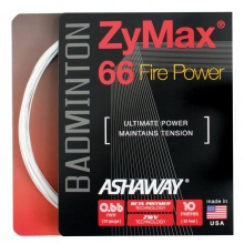 Ashaway Zymax 66 Fire Power weiss Badmintonsaite
