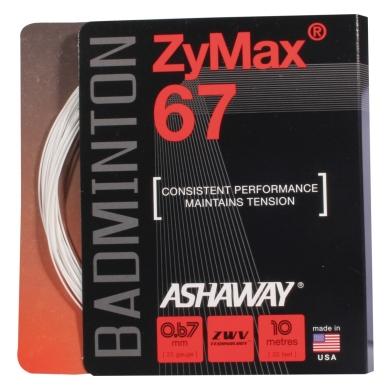 Ashaway Zymax 67 weiss 2015 Badmintonsaite