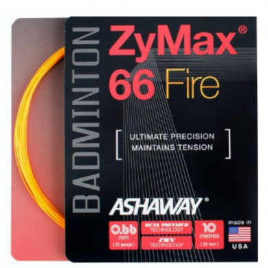 Besaitung mit Ashaway Zymax 66 Fire Power orange