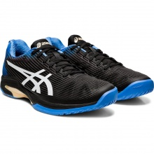 Asics Solution Speed FF Clay schwarz/blau Sandplatz-Tennisschuhe Herren