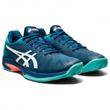 Asics Solution Speed FF Clay blaugrün Sandplatz-Tennisschuhe Herren