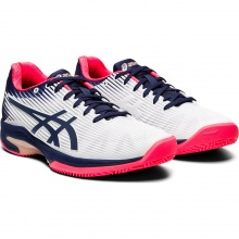 Asics Solution Speed FF Clay 2020 weiss/peacoat Tennisschuhe Damen