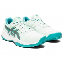 Asics Gel Game 7 Clay weiss/mint Sandplatz-Tennisschuhe Kinder
